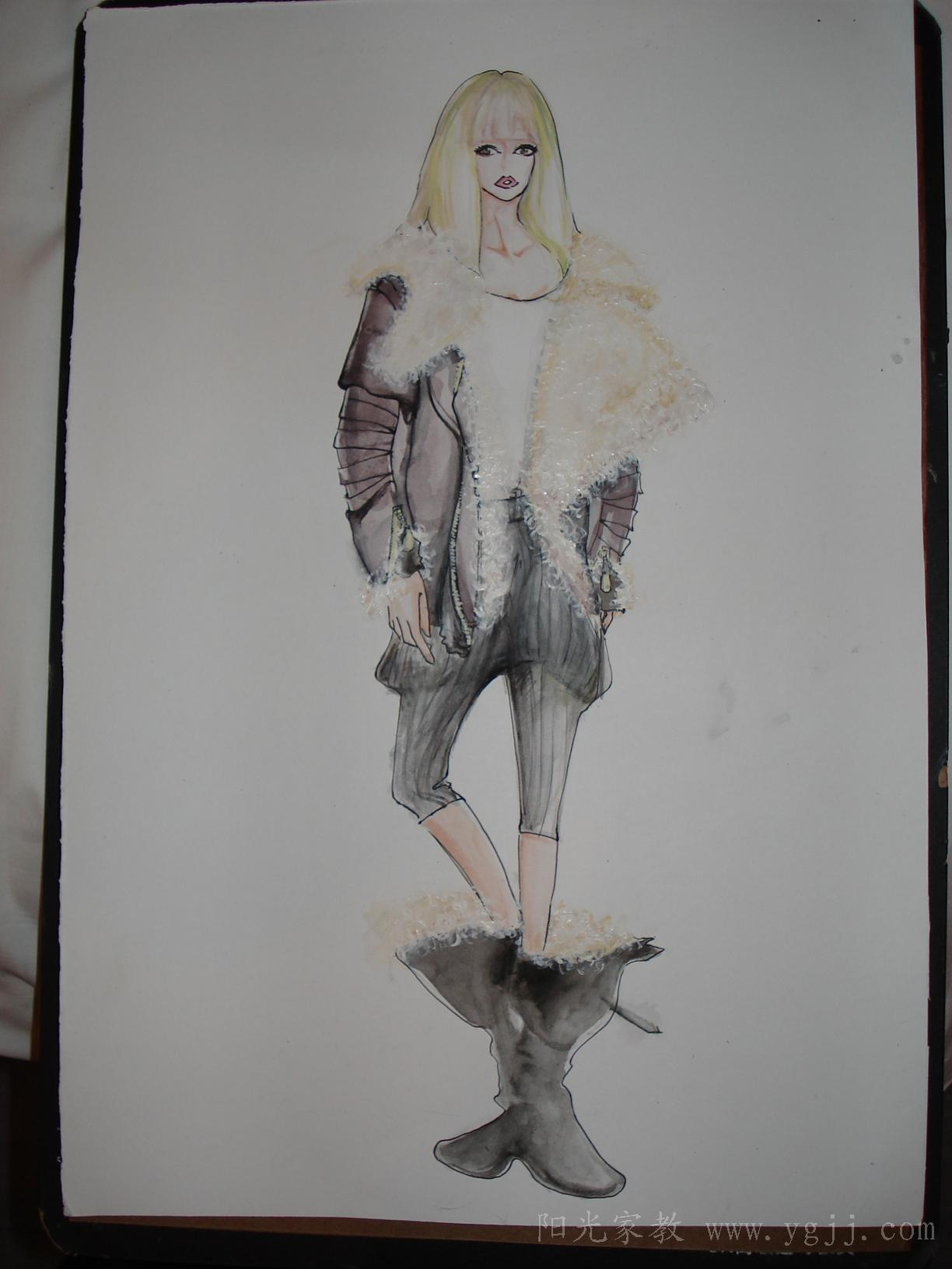 服装画法 古_设计图分享