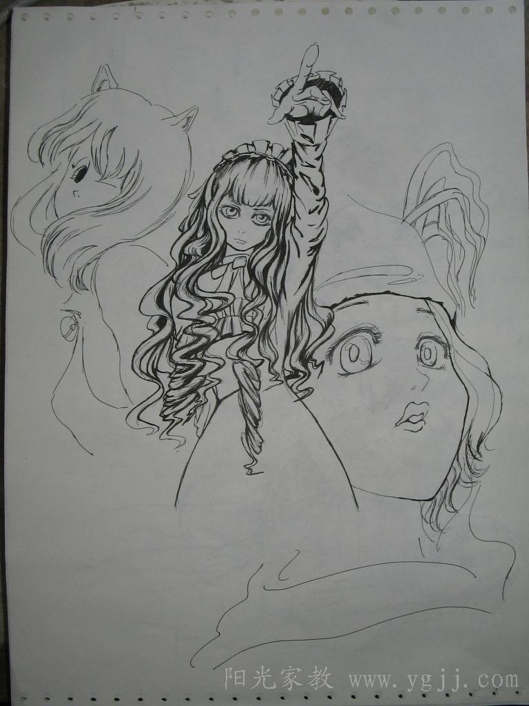 日式漫画线稿