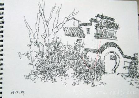 重庆家教-在校大四学生家教-沙坪坝 家教 建筑速写