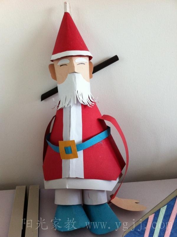 个人作品···(手工木偶制作---圣诞老人)
